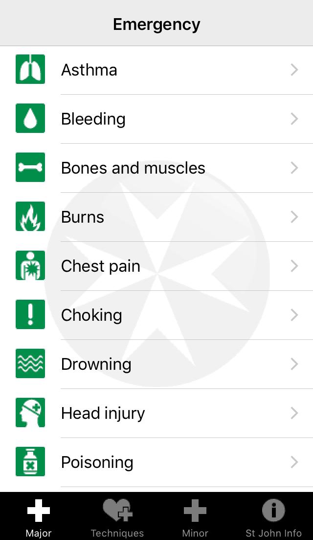 אפליקציית טיולים: עזרה ראשונה