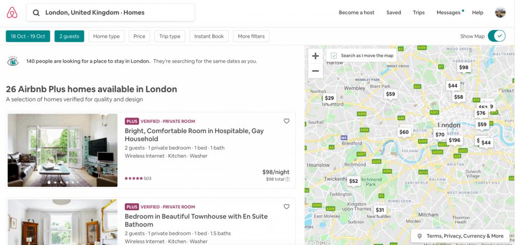 איך למצוא מלונות מומלצים בלונדון? דרך אייר בי אנד בי