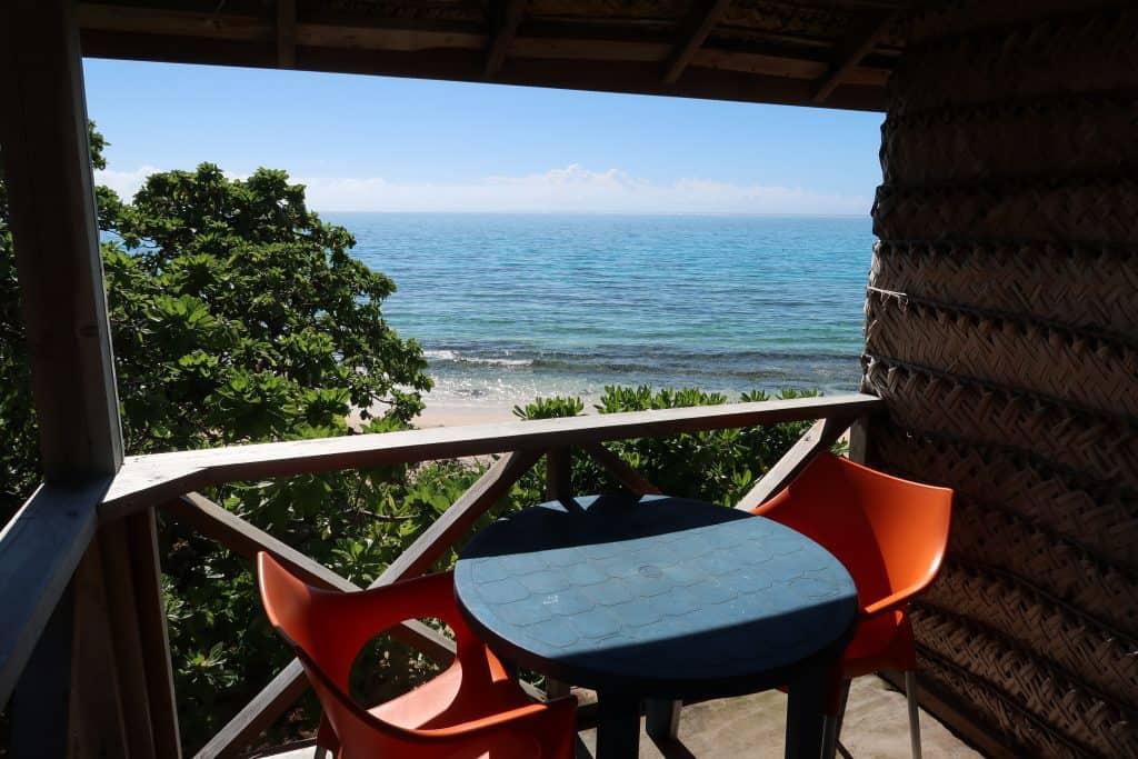 הנוף מהמרפסת של המלון שלי באיי טונגה